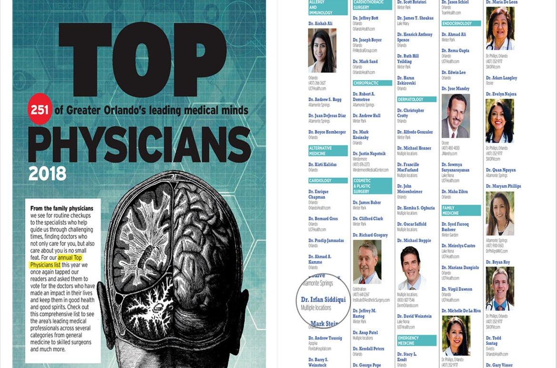 OrlandoFamily Magazine Top Physicians 2018