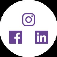 Social media icons for Facebook, Linkedin, and Instagram