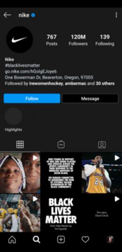 Nike Instagram Profile