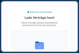 Screenshot der Vertragsverwaltungssoftware ContractHero