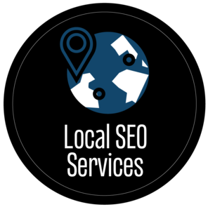 HVAC Local SEO Services Globe with Map locator Graphic.