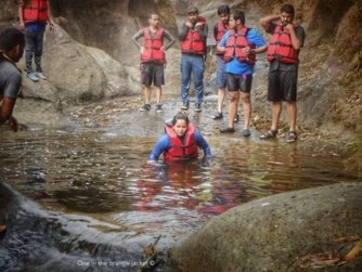 mawlyngbna river canyoning-Best meghalaya group trips