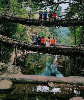 Nongriat double roots bridge-Best meghalaya group trips