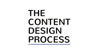 The Content Design Process