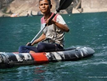 Kayaking in dawki-Best meghalaya group trips