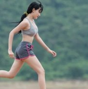 woman running and working out