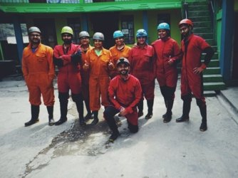 Caving group-Mawmluh-Best meghalaya group trips