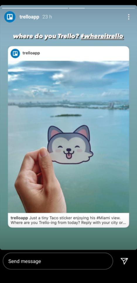 Trello App Instagram Story