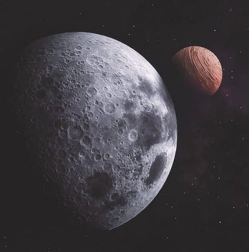Space, planets, Earth, Moon