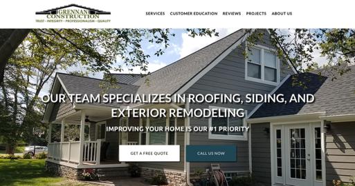 Web Design Michigan Grennan Construction