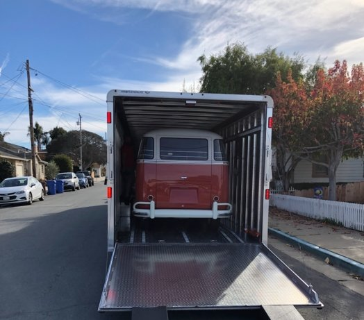 Enclosed car shipping for special cargo