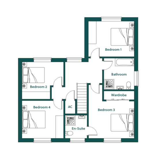 Ingoldisthorpe Sandringham First Floor Plans