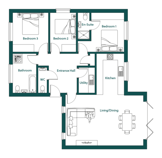 Ingoldisthorpe Lavender Ground Floor Plans
