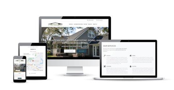 Affordable web design for Grennan Construction. Website displayed on a variety of platforms.