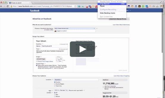 Screenshot of an ad setup page