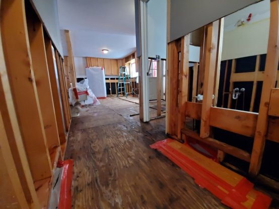 Fire damage restoration project