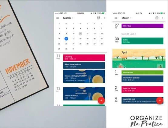 agenda de papel x agenda digital