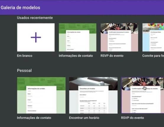 Modelos de formulários
