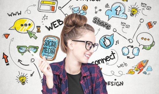 Social media marketing promo image