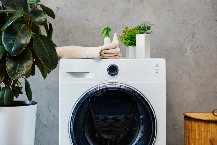 a washing machine has been installed by a local plumber from Coleraine
