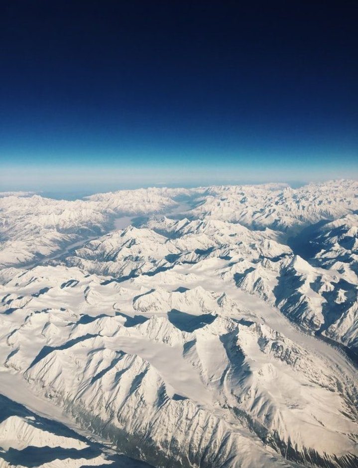 View from flight-Kashmir winter trip