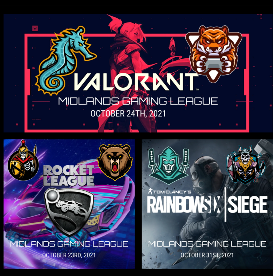 midland gaming league event posters